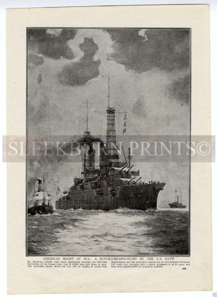 1917 US NAVY Battleship SUPER DREADNOUGHT USS New York BB-34 ? New Mexico BB-40